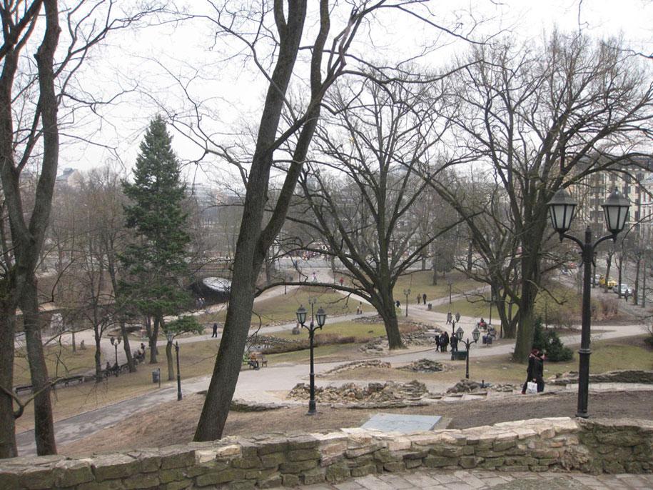 парк Бастионная горка в Риге