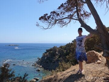 Walk along the northern coast of the Akamas Reserve, Cyprus