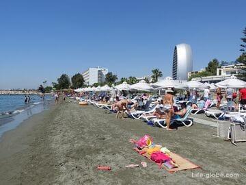 Агиос Афанасиос, Лимассол, Кипр. Пляж Агиос Афанасиос