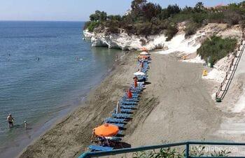 The beaches of Limassol, Cyprus. Coast of Limassol