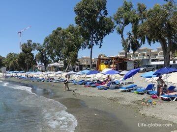 Germasogeia, Limassol, Cyprus. Beaches Germasogeia