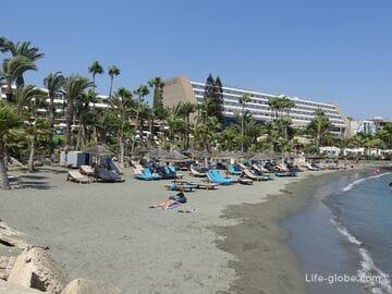 Limassol hotels with beach (center of Limassol, east coast, Pissouri)