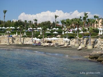 Beach near the hotel Elysium, Paphos