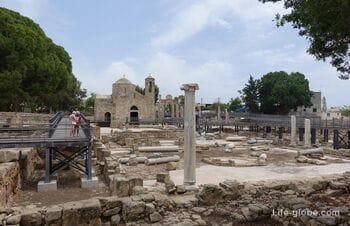 Комплекс Хрисополитисса в Пафосе: церковь Хрисополитисса, столп Св. Павла, османские бани и археологические раскопки