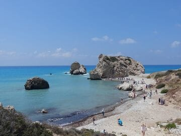 The Rock of Aphrodite and the beach of Aphrodite, Cyprus (Petra tou Romiou)