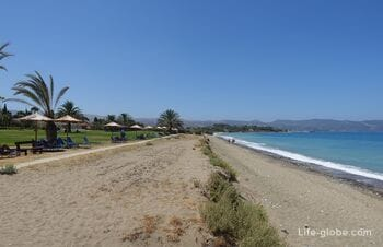 Beach near the hotel Natura Beach And Villas, Polis, Cyprus
