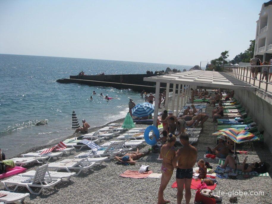 Пляжи Крыма - пляжи Алупки