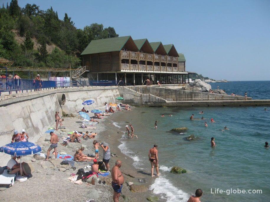 Алуптинский пляж, Купальни Графа Воронцова, Крым