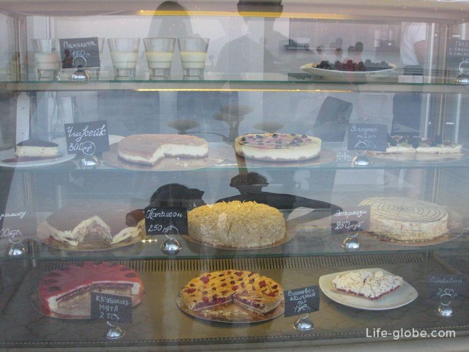 Цены в Крыму, торты, пирожное