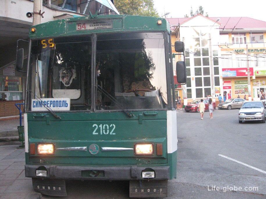 Междугородний троллейбус в Крыму
