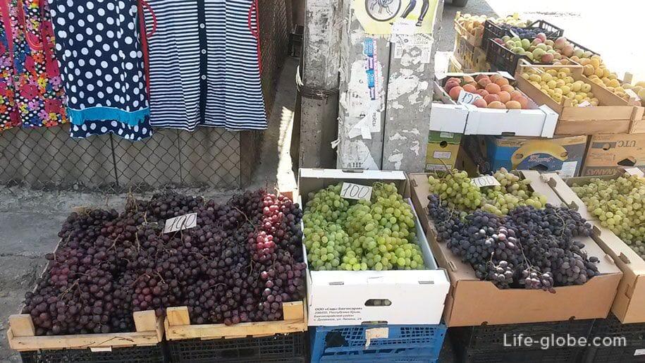 Цены в Крыму на виноград