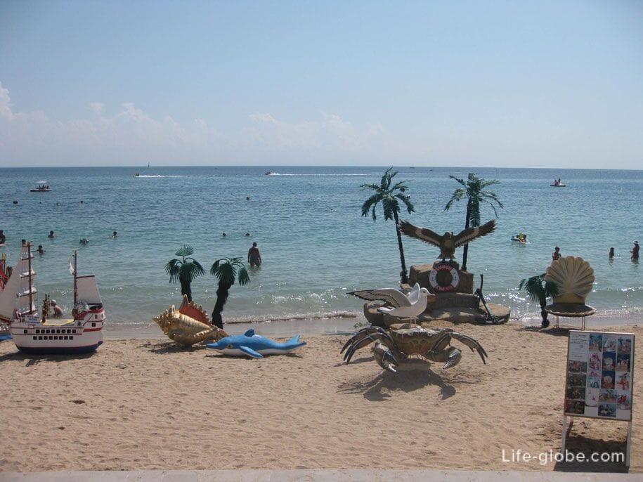 Детские забавы на пляжах Евпатории