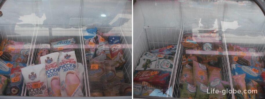 Цены в Крыму, мороженое