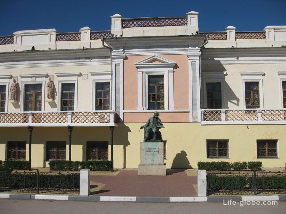 Памятник Айвазовского возле галереи Айвазовского, Феодосия