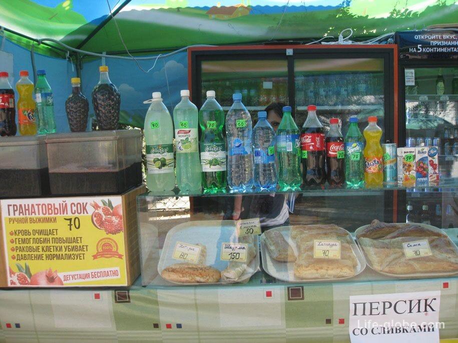 Цены в Крыму на сладости и напитки
