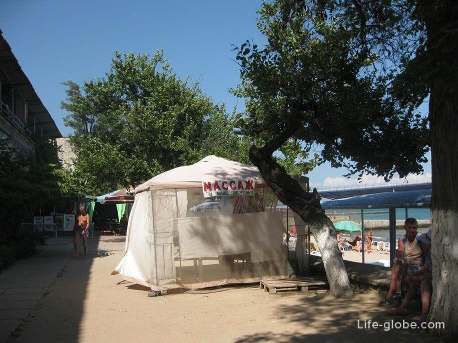 Массаж на пляжах Золотые пески, Феодосия