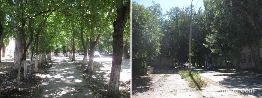Улицы Феодосии, дорога к Генуэзской крепости