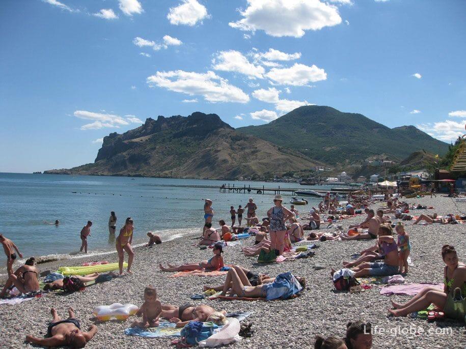 Центральные пляжи в Коктебеле, Крым