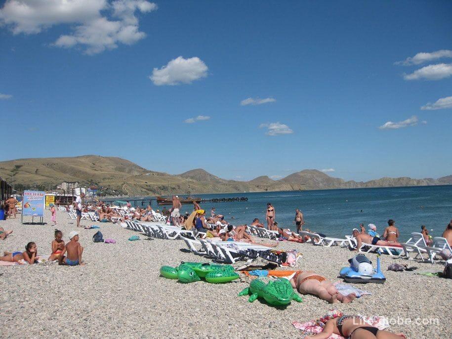 Пляжи Крыма - пляжи Коктебеля
