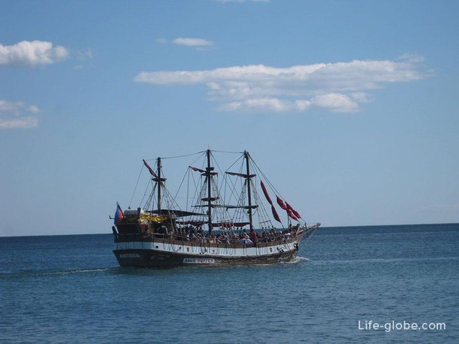 Поездки в открытое море, Коктебель