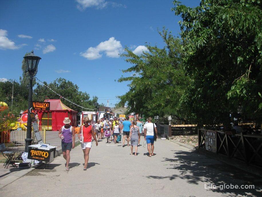 Центральная набережная Коктебеля, Крым