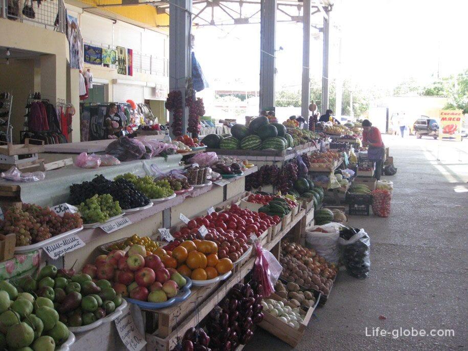 Цены на фрукты и овощи на рынках Крыма