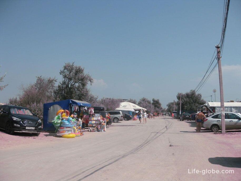 Дорога к пляжу «Лазурный берег» и озеру Мойнаки, Евпатория, Крым