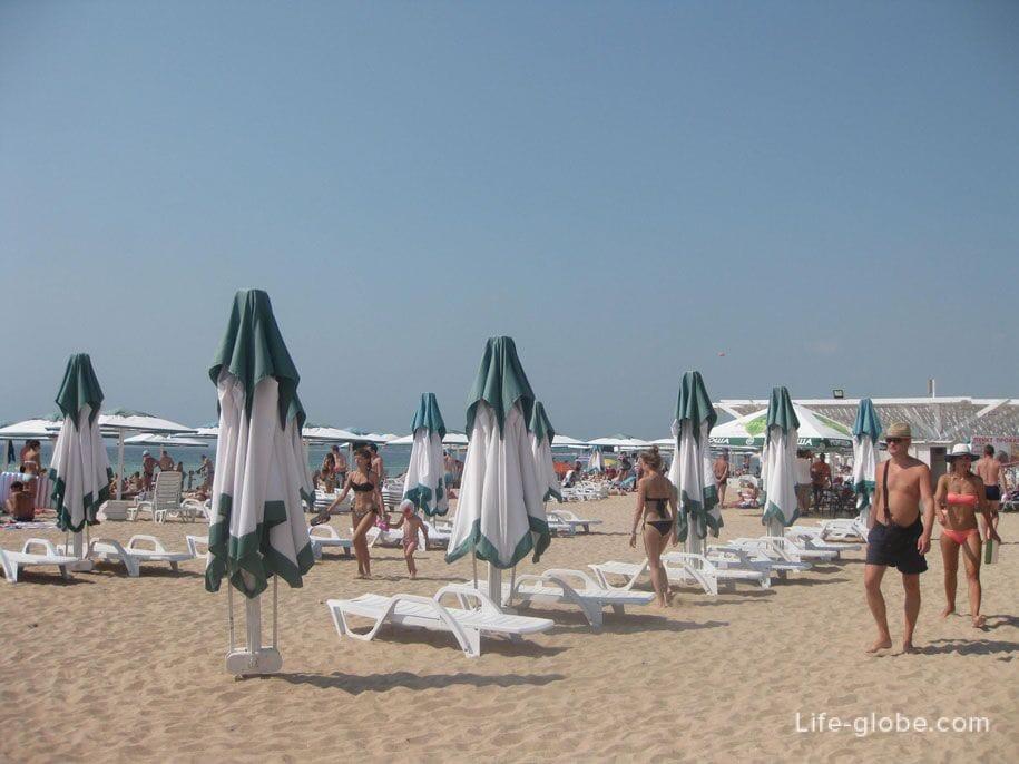 Достопримечательности Крыма - Пляж «Лазурный берег» в Евпатории