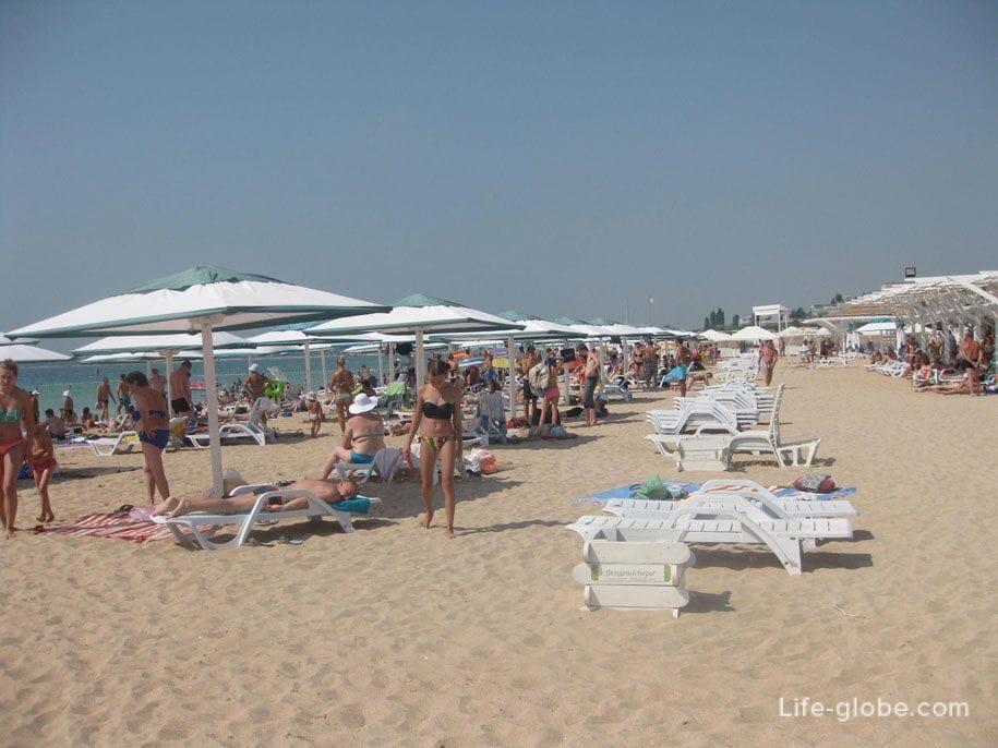 Пляжи Крыма - пляж Лазурный берег, Евпатория