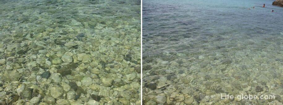 Вода в море, мыс Фиолент, Севастополь, Крым