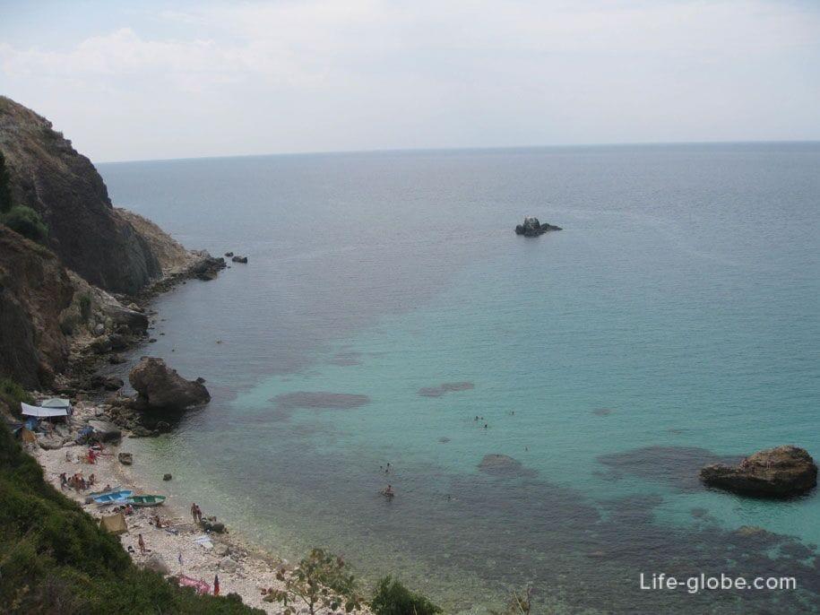 Пляжи Крыма - пляжи мыса Фиолент, Севастополь