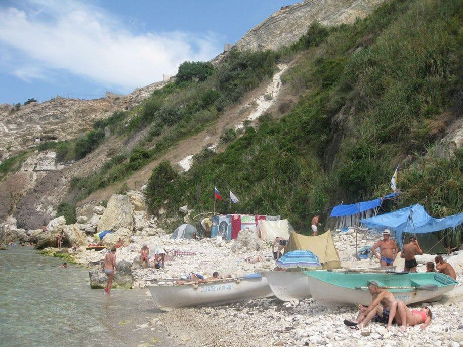 Палатки, мыс Фиолент, Севастополь, Крым