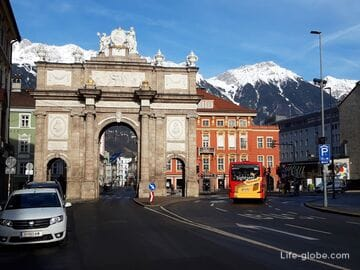 Триумфальная арка в Инсбруке (Triumphpforte) - символ радости и грусти