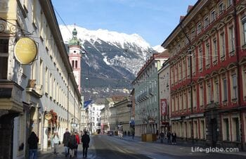 Street of Maria Theresa in Innsbruck (Maria-Theresien-Straße)