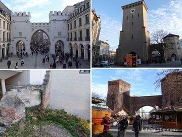 Городские ворота и остатки укреплений в Мюнхене