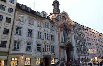 Asam Church, Munich (Asamkirche) - church of St. John of Nepomuk (+ Asam house)