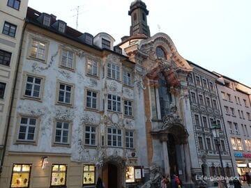 Азамкирхе, Мюнхен (Asamkirche) - церковь святого Иоанна Непомука (+ дом братьев Азам)