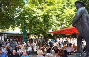 Виктуалиенмаркт, Мюнхен (Viktualienmarkt): рынок, пивной сад, фонтаны