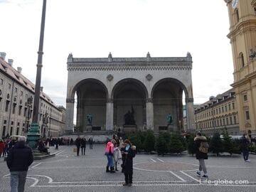 Площадь Одеонсплац в Мюнхене (Odeonsplatz)