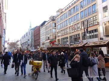 Улицы Кауфингерштрассе и Нойхаузерштрассе в Мюнхене (Kaufingerstraße, Neuhauser Straße)