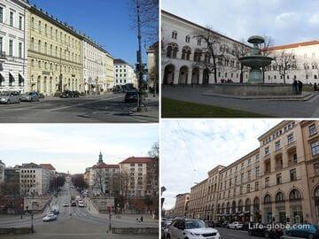 Королевские проспекты в Мюнхене (главные городские бульвары)