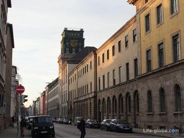 Район Максфорштадт в Мюнхене (Maxvorstadt)