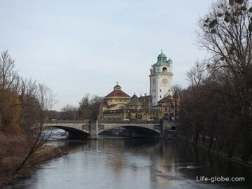 Мост Людвига в Мюнхене (Ludwigsbrücke / Людвигсбрюкке)