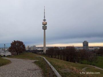 Олимпийская башня в Мюнхене (Olympiaturm) - самая высокая смотровая площадка города