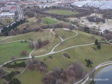Олимпийская гора в Мюнхене (Олимпияберг / Olympiaberg) - смотровая площадка и ландшафтный парк