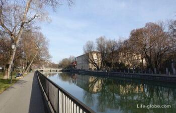 Мосты и набережные в Мюнхене (река Изар)