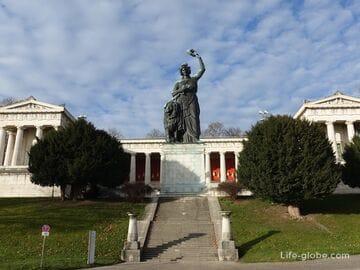 Статуя «Бавария» и зал славы в Мюнхене (Bavaria und Ruhmeshalle)