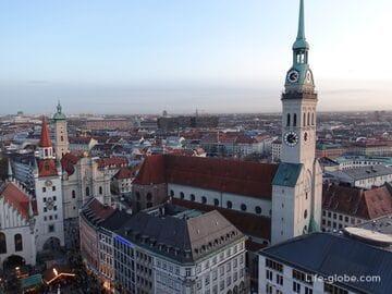 Церковь святого Петра в Мюнхене (Peterskirche / Alter Peter) - старейшая святыня и популярная смотровая площадка