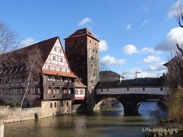 Мост Палача, башня Палача и винный склад - незабываемое трио Нюрнберга (Henkersteg, Henkerturm, Weinstadel)