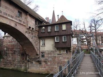 Цепной мост и участок укреплений в Нюрнберге (Kettensteg)